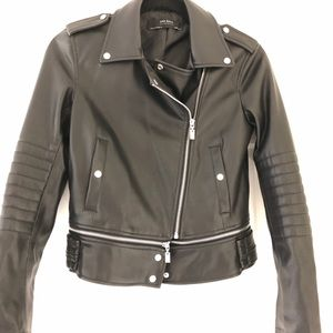 Zara | Moto Faux Leather Jacket | XS